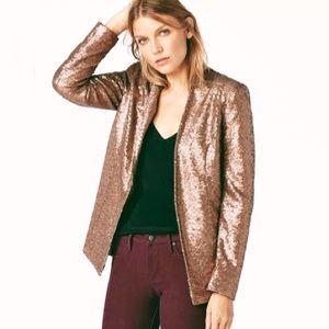 NWT Bronze/Copper Sequined Blazer — JustFab